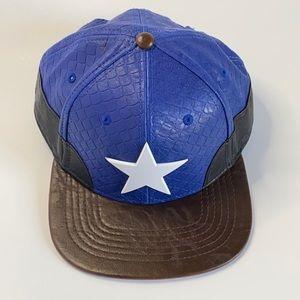 Marvel faux leather Captain America Snapback